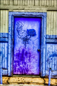 a colorful door